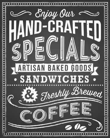 칠판 메뉴 배경 - 레트로과 손으로 그린 빈티지 칠판 배경