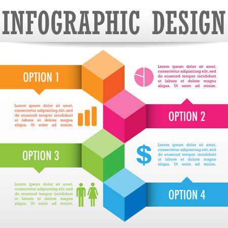 grafica de barras: Antecedentes infografía - infografía diseño de fondo del cubo