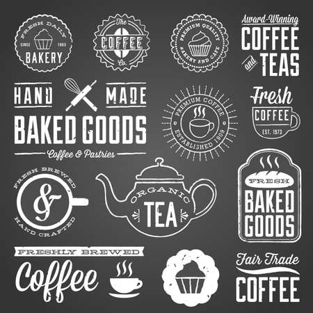 rule line: Chalkboard Cafe and Bakery Designs - Set of chalkboard labels and design elements. Colors are global and each design is grouped for easy editing.