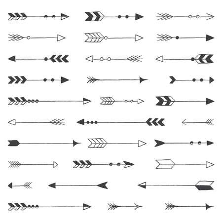 素朴な矢印 - 素朴な矢印ベクトル クリップアート バンドル  イラスト・ベクター素材