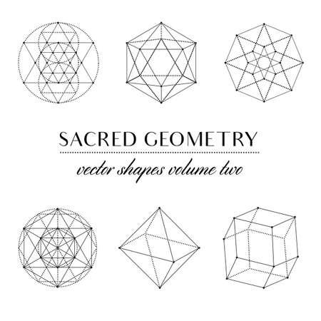 神聖な幾何学のボリューム 2 - は、神聖な幾何学アートのセット。幾何学的なベクトル アート