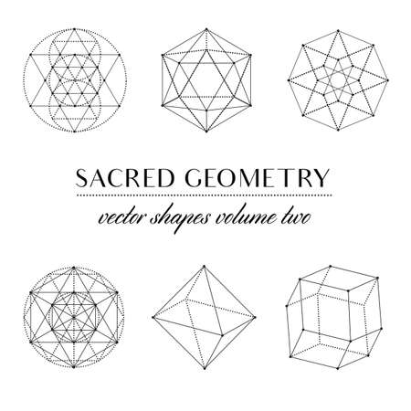 kabbalah: Sacred Geometry Volume Two - Set of Sacred Geometry Art. Geometric Vector Art