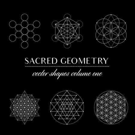 Sacred Geometry Volume One - Set of Sacred Geometry Art. Geometric Vector Art
