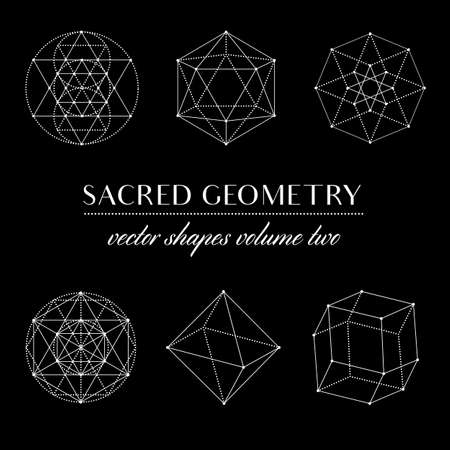 metaphysical: Sacred Geometry Volume Two - Set of Sacred Geometry Art. Geometric Vector Art