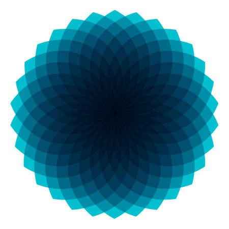 Blue Geometric Sunburst - Geometric Sunburst Pattern with transparent shapes. EPS 10.