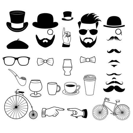 Hipster Graphics Icons - Hand Drawn Illustrations