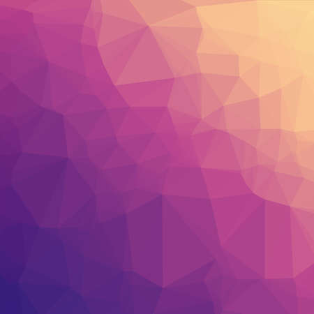 Low Poly Background - Abstract Low Poly Background with Purple & Orange Gradient Ilustração