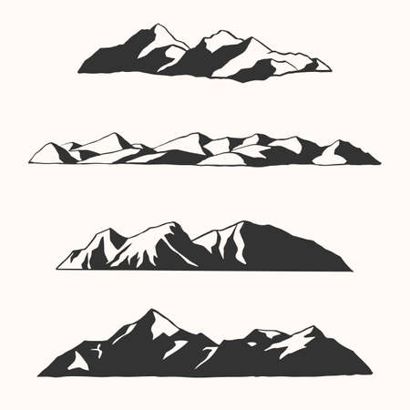 Hand Drawn Mountains - Vector Illustrations of hand drawn mountains and mountain ranges