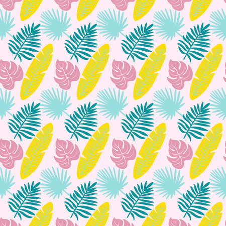 Tropical Pattern - Colorful tropical pattern. Seamless pattern tile.
