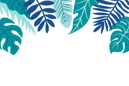 Tropical Botanical Frame - Colorful tropical botanical vector frame design.