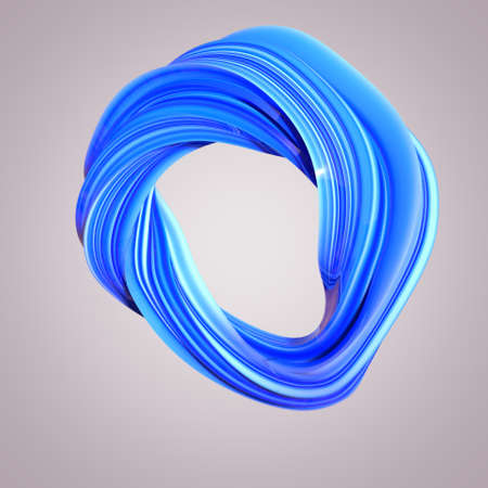 Abstract 3D Twisted Shape - Colorful, abstract 3D rendered layout design on light background.