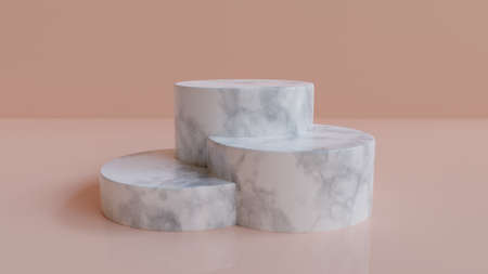 3d rendered marble podium