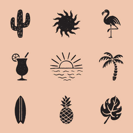 Vintage Summer Icon in a timeless style. Illustration