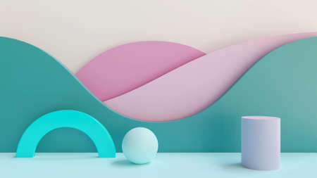 3D rendered  of a colorful, abstract Banco de Imagens