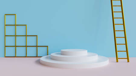 Abstract 3d render of a minimal set design