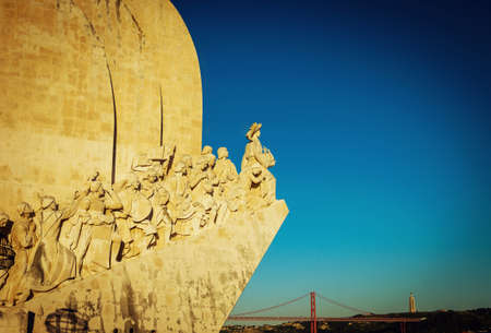 descubridor: Monument to the Discoveries in Lisbon, Portugal