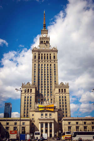 WARSAW POLAND - 21.04.2016: The Palace of Culture and Science in Warsaw Editorial