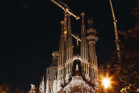 BARCELONA, SPAIN - 23.04.2016: La Sagrada Familia designed by Gaudi April 24 2016 in Barcelona Spain Editorial