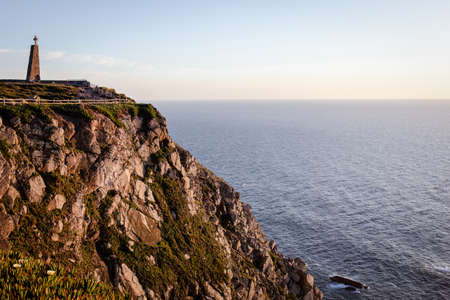 Panoramic view of the cliffs of Cabo da Roca at sunset