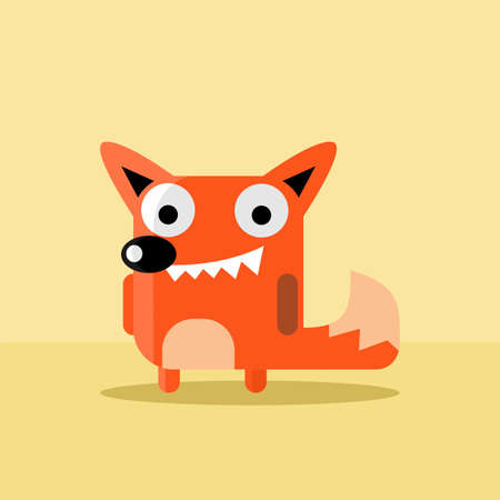 flat fox vector for mascot and avatar