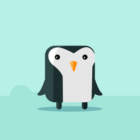 flat penguin vector for mascot and avatar