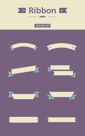 ribbon vector set: Awesome flat Ribbon vector set illustration with flat  modern design Illustration