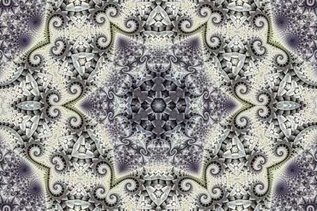 Abstract background with circular ornament and a star made of fractals