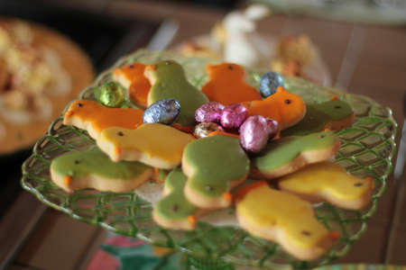 Easter cookies and candy as dessert for party