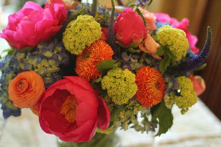 bouquet centerpiece brunch Banco de Imagens