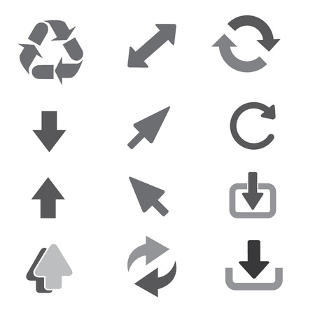 newest: arrow set icon sign