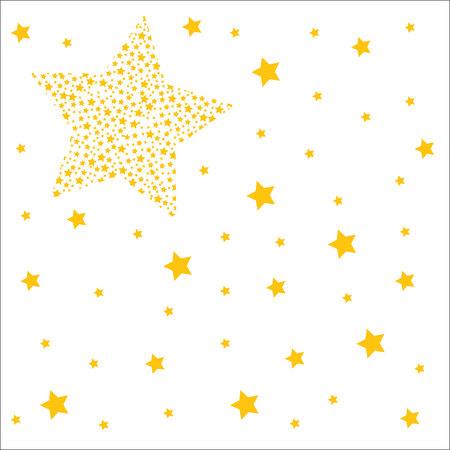 threadbare: white background with golden stars