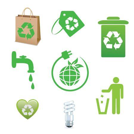 antipollution: ecolog�a conjunto de iconos
