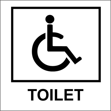 changing room: toilet Handicap sign white Illustration