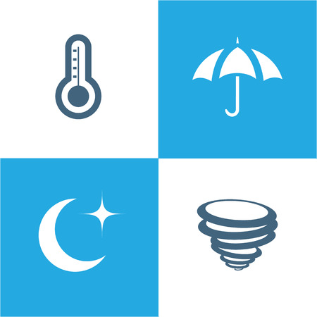 Weather Icons set with White Background vector