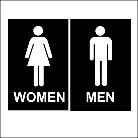 Toilet vrouwen en mannen Teken en het Symbool Stockfoto - 42570534