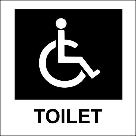 toilet Handicap sign and symbol