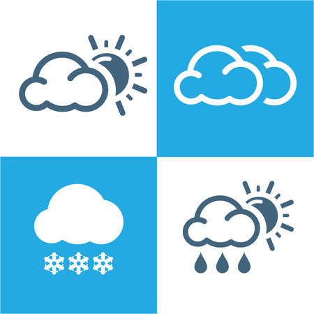 humidity: Weather Icons set with White Background vector
