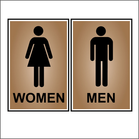 genders: Restroom or toilet male and female sign vector illustration Illustration