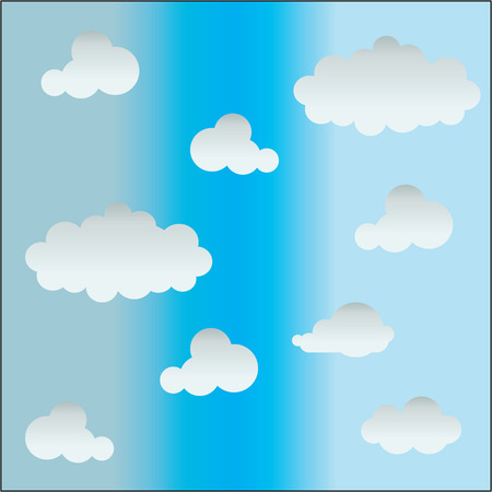 Vector illustration of clouds collection 矢量图像