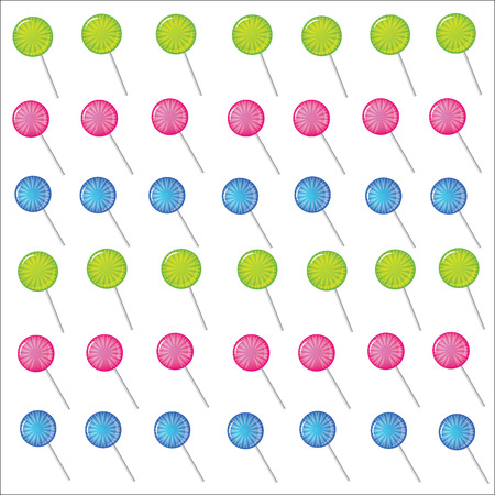 Sweets and candy white background vector