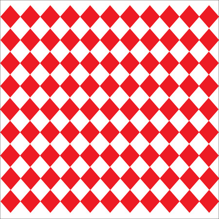 diamond-shaped Leather texture pattern vector on red white background Illustration