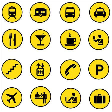 AirportShopping mall vector Icons set illustrator
