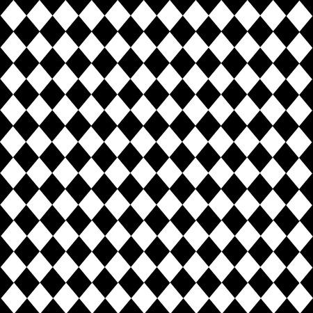 diamond-shaped Leather texture pattern vector on black white background Illustration