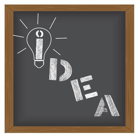 Idea Vector illustration on a blackboard background 矢量图像