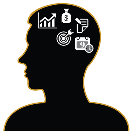 Thinking Heads business Icons. vector illustration eps 10