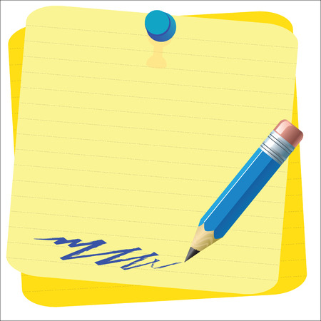 sheet of paper: Empty paper sheet and lined notepad pages for attaching paper Vector EPS10