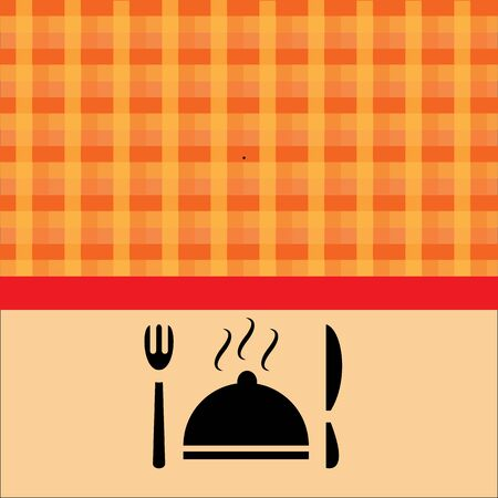 food orange background vector illustration