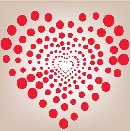 heart Vector background for Valentine's Day