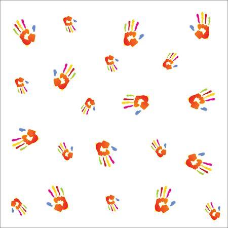 handprint background vector illustrator