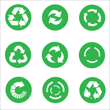 recycle icon: Arrow Recycle icon set vector